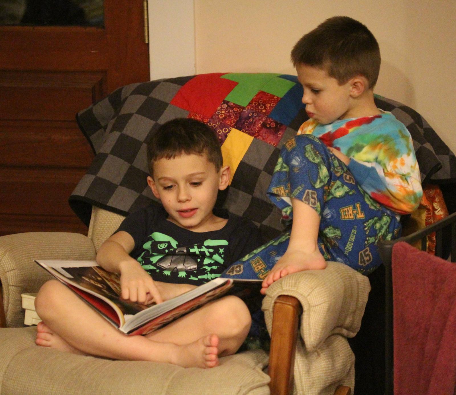 Denton, George, armchair, book